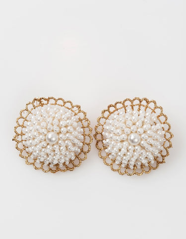 NAYA Pearls Gold shoe clips -150033