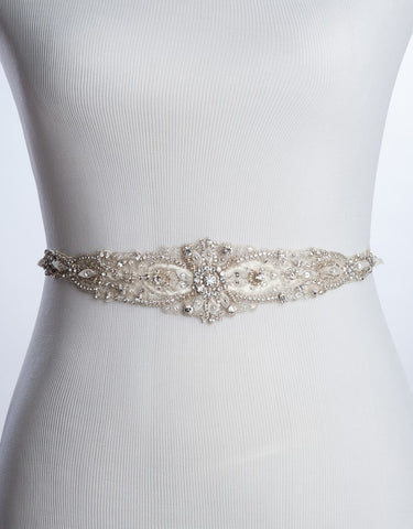 Wedding beaded belt - LYANE