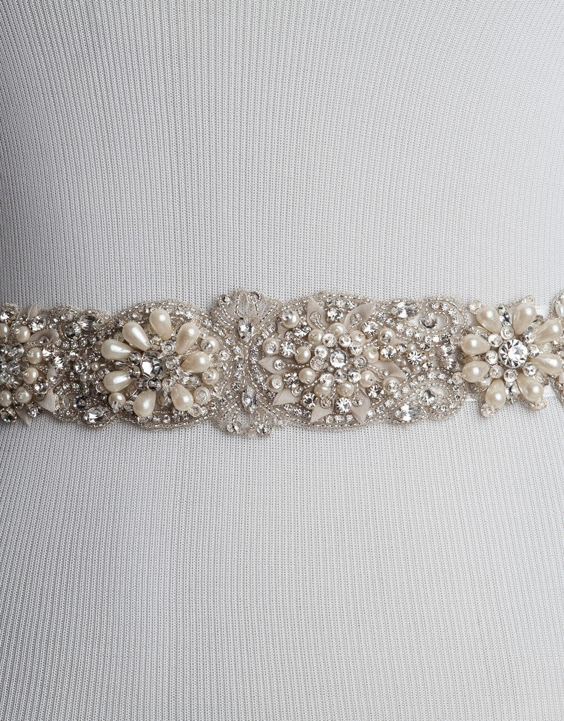 LOANE bridal beaded belt
