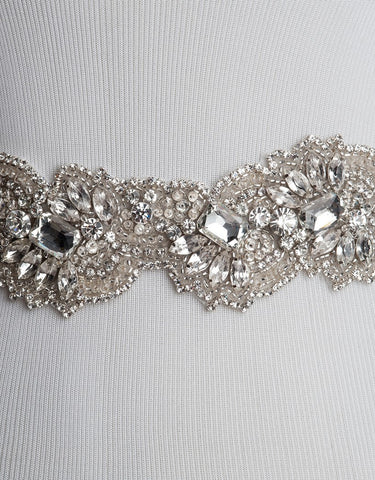CRYSTAL Wedding dress sash