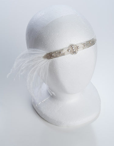 Wedding flapper headband