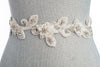 beaded vine wedding sash SB150222