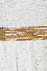 Gold beaded bridal sash - BEATRICE