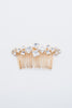 princess Square chrystal hair comb Style 20001
