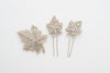 mini maple leaves pins set - style 20014
