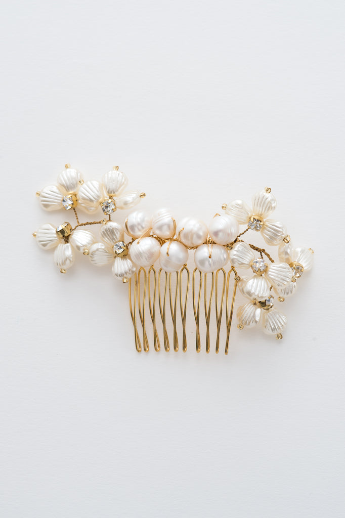 pearls hair comb - style 20016