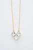 white opal crystal necklace - style  20032