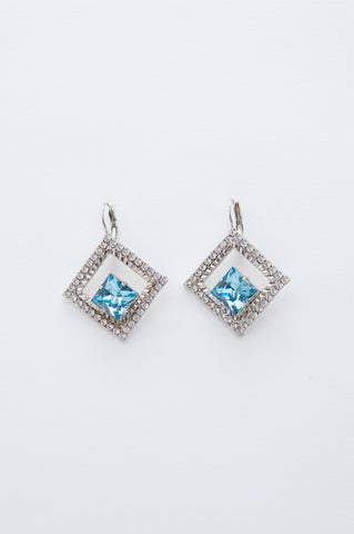 large crystal earrings - style 20044
