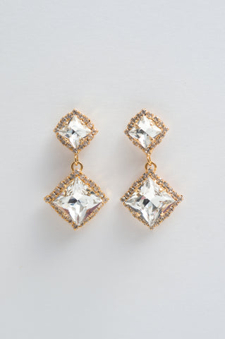 encrusted crystal earrings- style 20040