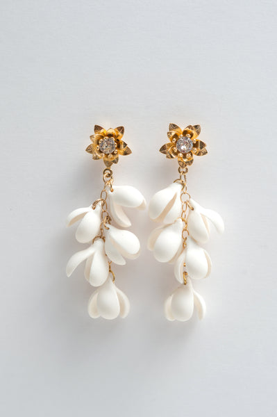 floral statement earrings - style 20047