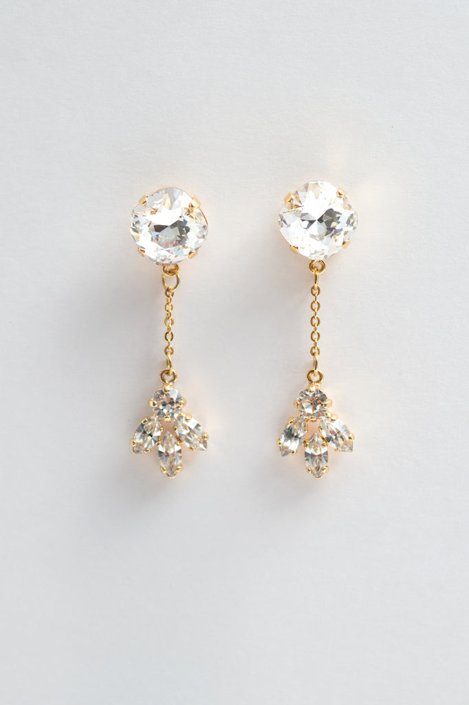 dangling crystal earrings - style 20037