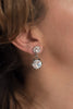 Dana Silver crystal earrings - style 20038