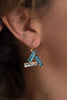 triangle crystal leverback earrings - style 20046