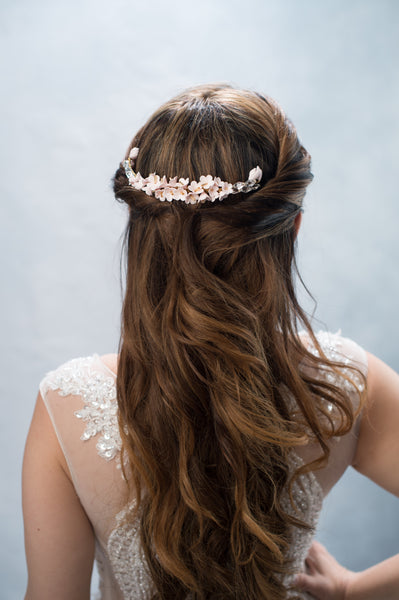 blush floral headpiece - style 20021