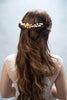 bridal headpiece with cluster brass flowers - style 20020
