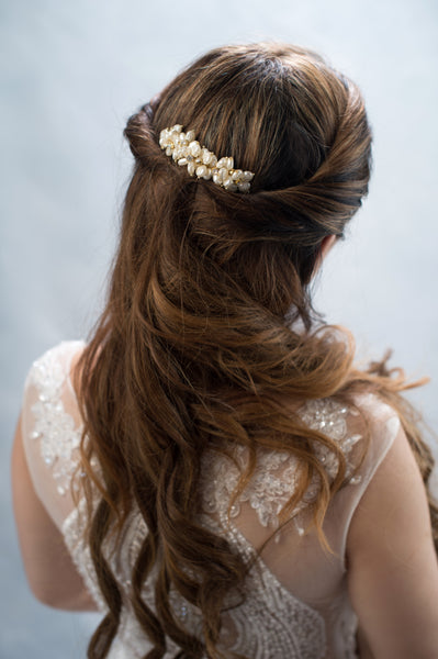 pearls flowers headpiece - style 20015