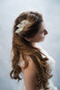 pearls and crystal beaded leaves hair comb - style 20009