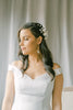 Bridal blossoms hair comb, bridal headpieces with clay flowers, FRISSON style 21041