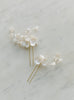 wedding hair pins, blossoms hair pins with clay flowers, bridal hair piece CÂLIN style 21005