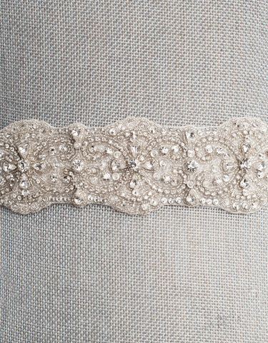 Roissy wedding sash SB160116 - ready to ship