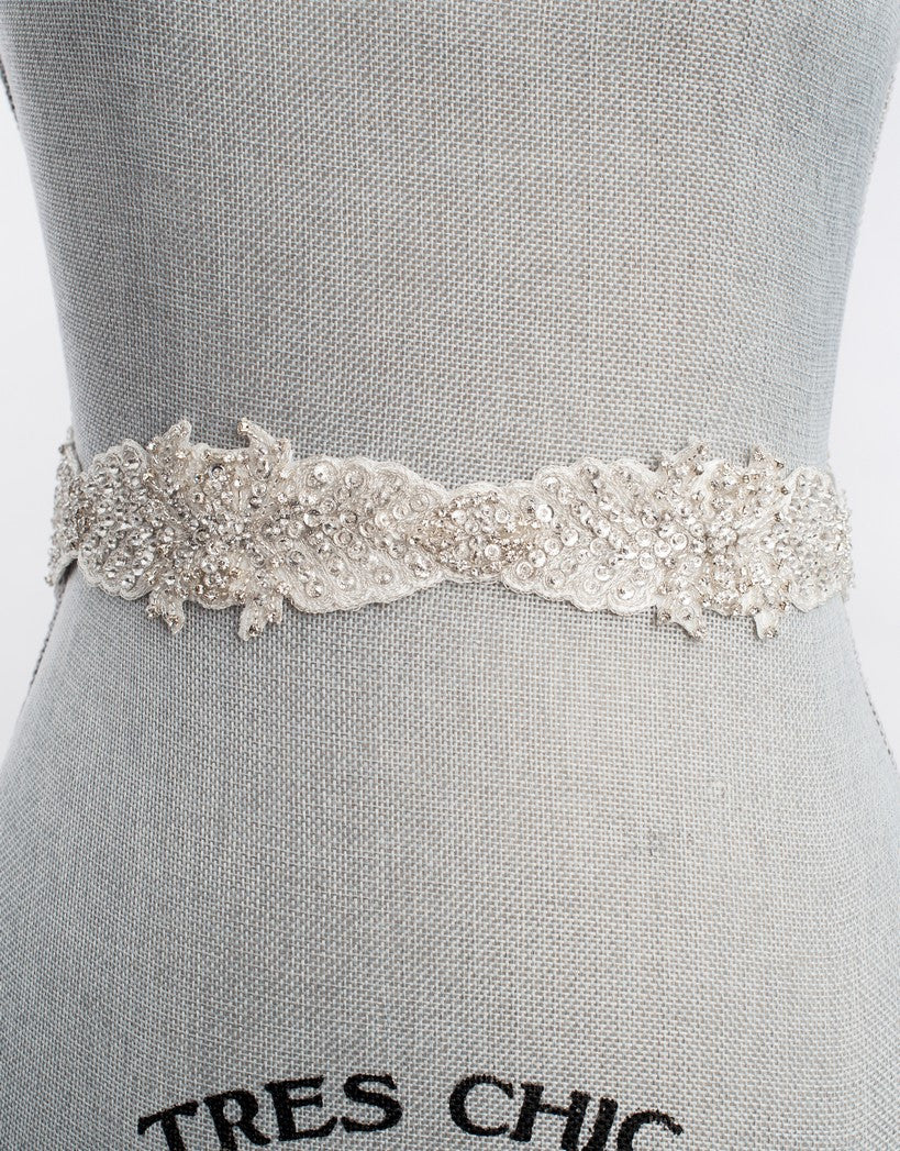 Nantes wedding sash SB160103 - ready to ship