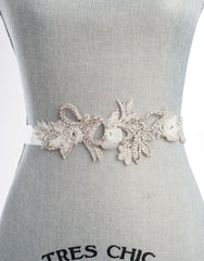 Lille vine bridal sash SB160123 - ready to ship
