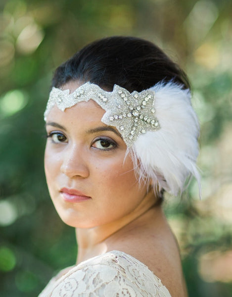 SKYLAR bridal flapper headband - 150083