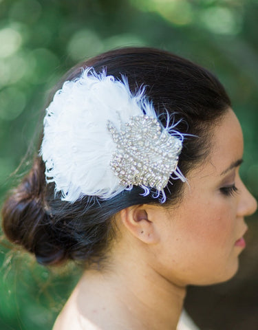 AVERY Beaded Feathers hair clip - 150084