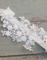 Lace garter - Cecily Ivory Lace garter - 150106
