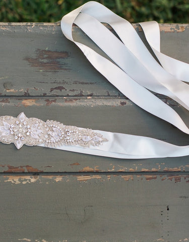 Wedding beaded sash DIANE