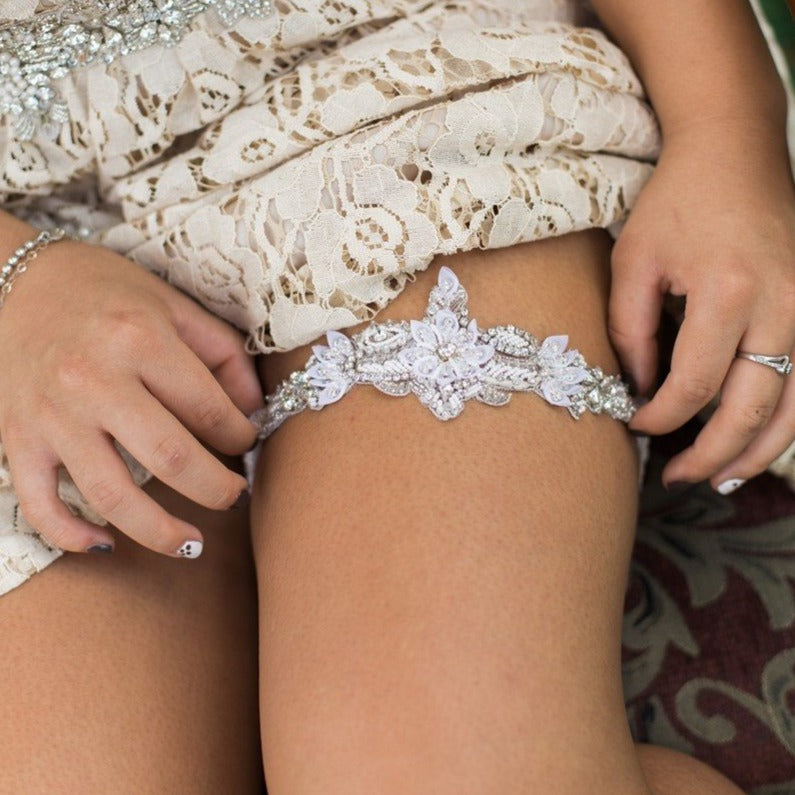Oxana beaded statement single garter - 150048