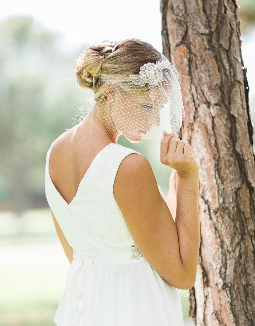 Double layer birdcage veil - Maelle -150005