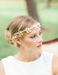 Iola gold leaves headpiece - 150010