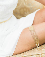 Charissa Gold or silver lace garter - 150110