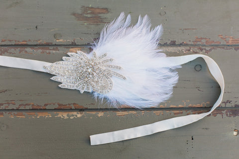 LAYLA- 20's style beaded wedding headpiece - 150085