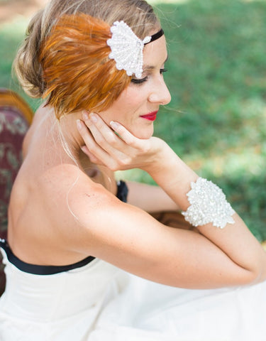 feather flapper headband - 150078 BABETTE