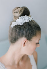 marjo beaded bridal comb - HP16014