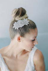 dephine beaded bridal comb - HP16015