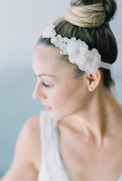 silk flower lace headband or belt HP16030