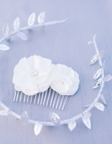 Silver leaves headband