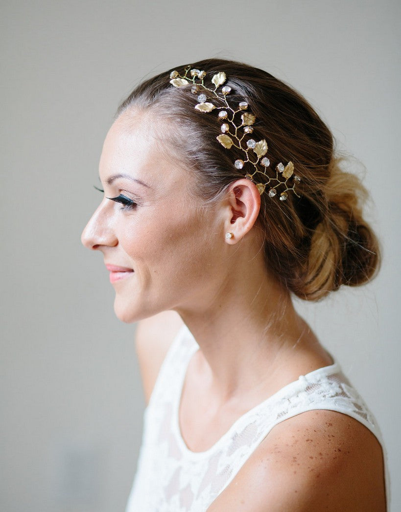 Bridal wired branch headpiece - Athena - 150201