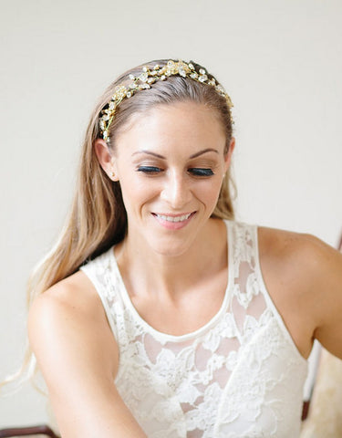Vintage inspired bridal vines headpiece- Damae - 150215