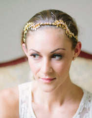 Bridal leaves headband- Olympia - 150210