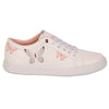 020-96 Cklass Tenis Casual Dama Mujer Color Blanco Mariposas
