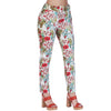 999-04 Pantalón Dama Formal Estampado Flores Multicolor
