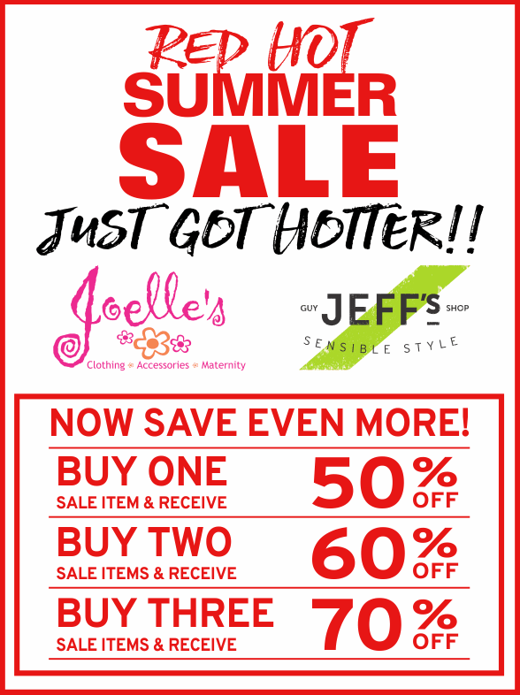 Our Red Hot Summer Sale Just Got Hotter