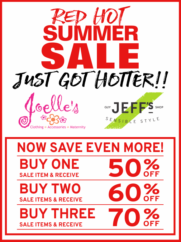 Red Hot Summer Sale Just Got Hotter - 50-70% Off