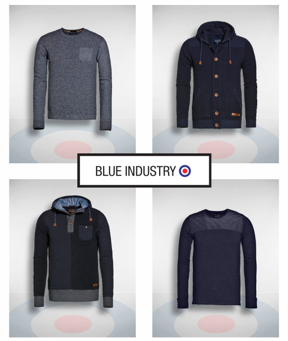 Blue Industry Sweaters