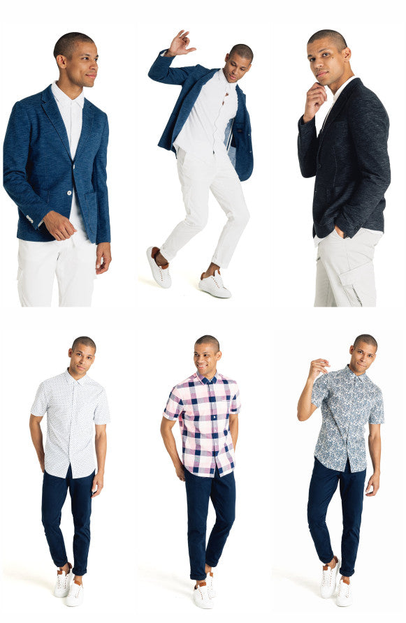 Good Man Brand blazers and shirts