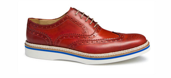 Bugatchi Novara Wingtip in red